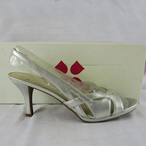 Naturalizer Prissy Women US 7.5 Silver Open Toe